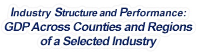West Virginia - Gross Domestic Product Across Counties and Regions of a Selected Industry